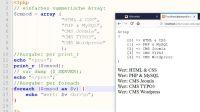 Arrays: print_r, foreach